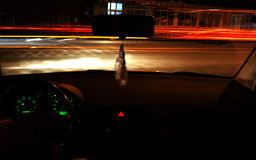 Night time driving Stock Photo