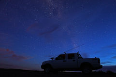 Night Time Fishing - 4 Wheel Truck Royalty Free Stock Photos
