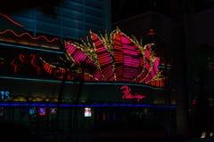 Night Time Flamingo Casino in Las Vegas royalty free stock image