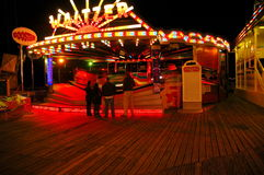 Night time fun at the fair royalty free stock photography