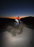 Night time gap jump Stock Image