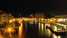 Night time at Grand Canal Venice Stock Image
