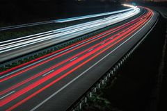 Night Time Highway Traffic stock photos