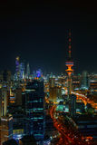 Night Time In The Kuwait City. Night Time In The Heart Of Kuwait City Stock Photos