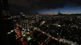 Night time lapse Tokyo Japan. High angle view of night time lapse Tokyo Japan stock footage