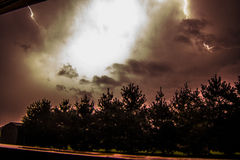 Night time Lightning Stock Photos