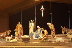 Night time Nativity Scene Stock Images