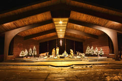 Night time Nativity Scene Royalty Free Stock Image