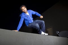 Night Time Parkour Stock Photo