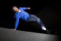 Night Time Parkour Royalty Free Stock Photography