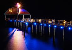 Night time at the Peer in Townsville, Australia. royalty free stock photography