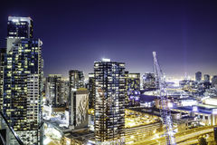 Night Time Photo of Skyline City Royalty Free Stock Photography