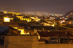 Night Time Quito Ecuador Stock Photography