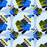 Night time sheep seamless background design Stock Photos