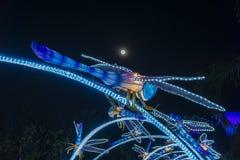 Night time shot of Singapore royalty free stock image