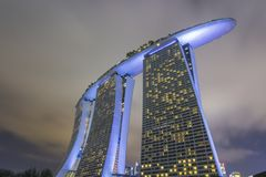 Night time shot of Singapore stock photography