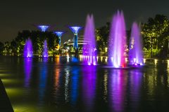 Night time shot of Singapore royalty free stock photography