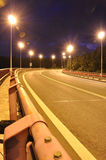 Night time shot of speed. On the road Royalty Free Stock Photo