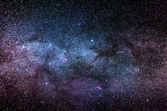Night time sky. With many stars and a part of the Milky Way Royalty Free Stock Photos