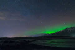 Night Time Sky. The night time sky with northern lights Stock Images