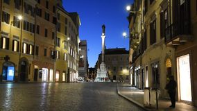 Spanish square. A night time on a Spanish square stock video footage
