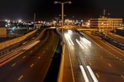 Night time speeding Stock Photo