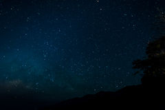 Night time  with stars in sky Stock Photography