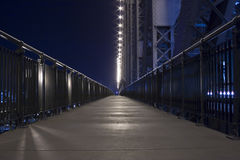 Night time on story bridge footpath Stock Photos
