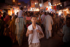 Night-time streets in India Royalty Free Stock Image