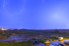 Night time thunderstorm Royalty Free Stock Photos