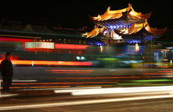 Night Time Traffic In China Royalty Free Stock Photo