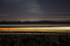 Traffic light trails Stock Image
