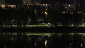 Night time view from a park in Cluj-Napoca. Night time view park cluj cluj-napoca stock images