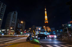 Night time view of Tokyo Tower Royalty Free Stock Image