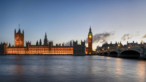 Night Time at Westminster Bridge Royalty Free Stock Image