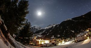 Night Timelapse Alps Kaunertal 4k stock video footage