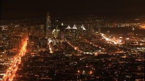 Night timelapse of San Francisco, California city center 4K. A Night timelapse of San Francisco, California city center 4K stock video footage