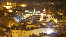 Night Timelapse, Traditional Ottoman Anatolian Village, Safranbolu, Turkey stock video footage