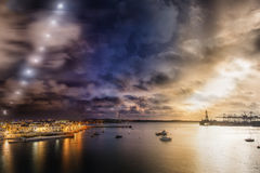 Night to day concept image. Combined shot showing time of day changing during night and day Stock Photography