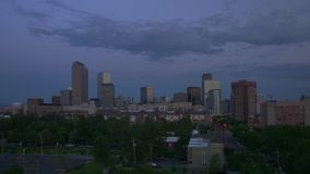 Denver Skyline Full Sunrise Timelapse