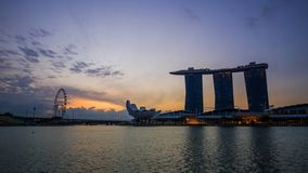 Time-lapse of urban cityscape of Singapore with sunrise stock video footage