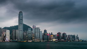 Night to day timelapse of Hong Kong stock video