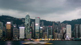 Night to day timelapse of Hong Kong stock footage