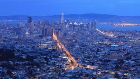 Night to day timelapse of San Francisco 4K. A Night to day timelapse of San Francisco 4K stock footage