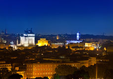 Night top view on the city. Rome. Stock Photography