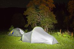 Night touristic camp Royalty Free Stock Photography