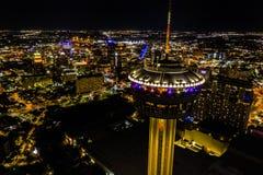 Night tower of the americas. Tower Of The Americas San Antonio stock image
