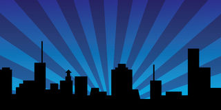 Night Town Banner Stock Image