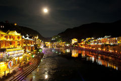 Night in the town Fenghuang Stock Images