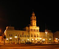 Night Town Hall - Arad, Romania. Build in 1876, this is the central administration of the western most city of Romania - Arad at night time Royalty Free Stock Image
